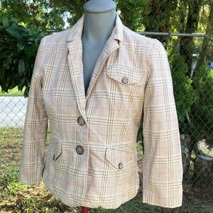 American Eagle Outfitters Plaid Jacket Size M